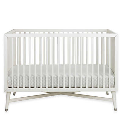 DwellStudio Mid-Century 3-in-1 Convertible Crib in French White