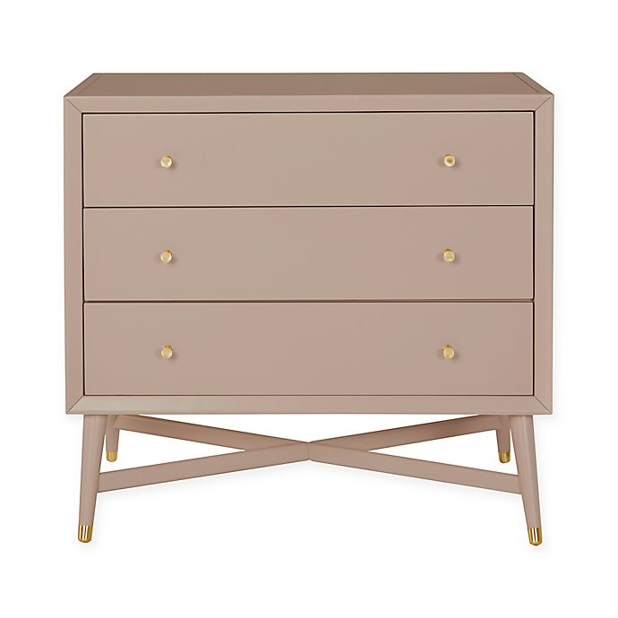 Alternate image 1 for DwellStudio® Mid-Century 3-Drawer Dresser in Fog Grey