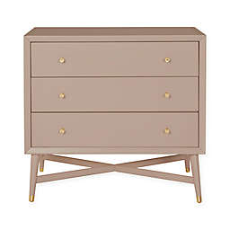 DwellStudio® Mid-Century 3-Drawer Dresser in Fog Grey