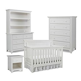 Ti Amo Nursery Furniture Collection with Carino 4-In-1 Crib in Snow White