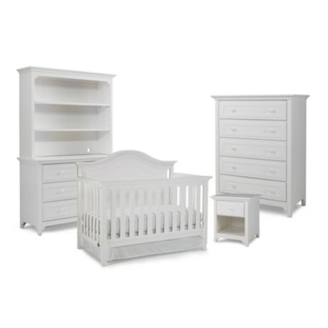 Ti Amo Nursery Furniture Collection With Catania 4 In 1 Crib Snow White