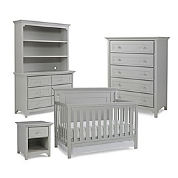 Ti Amo Nursery Furniture Collection with Carino 4-In-1 Crib in Misty Grey