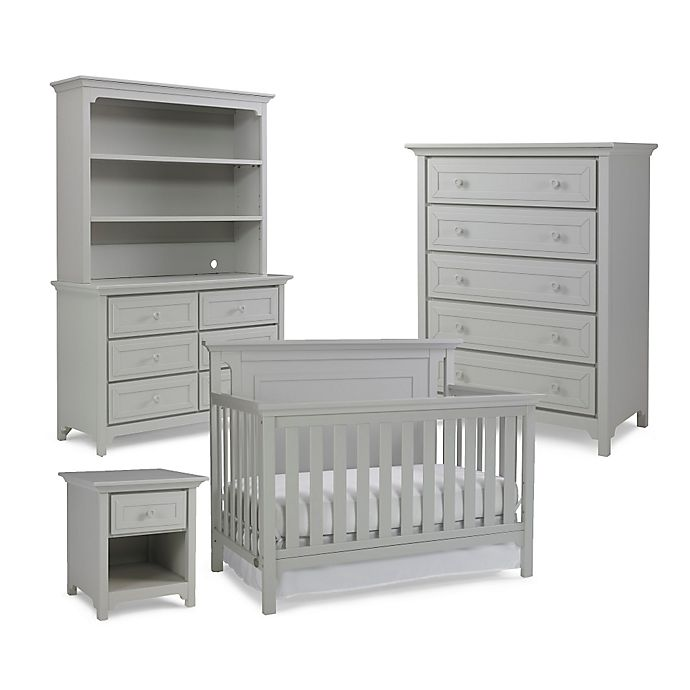 Alternate image 1 for Ti Amo Nursery Furniture Collection with Carino 4-In-1 Crib in Misty Grey