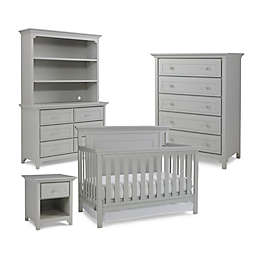 Ti Amo Nursery Furniture Collection with Carino 4-In-1 Crib in Misty Grey