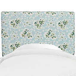 Skyline Furniture Aubrey Headboard in Cecilia Sea Green
