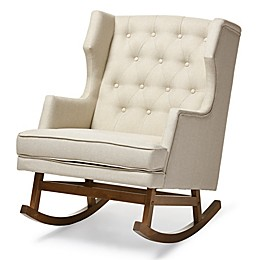 Baxton Studio Iona Button-Tufted Wingback Rocking Chair