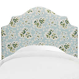 Skyline Furniture Nancy Headboard in Cecilia Sea Green