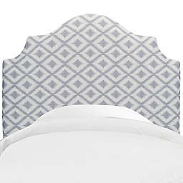 Skyline Furniture Nancy Headboard in Ikat Fret Pewter