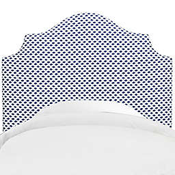 Skyline Furniture Nancy Full Headboard in Sahara Midnight White Flax