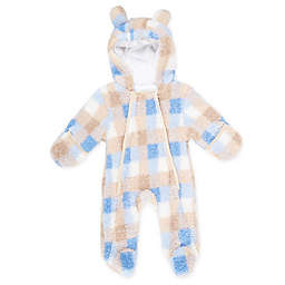 Only Kids Size Cuddle Fur Pram in Blue Plaid