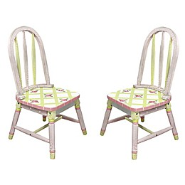 Teamson Fantasy Fields Chairs in Crackled Rose (Set of 2)