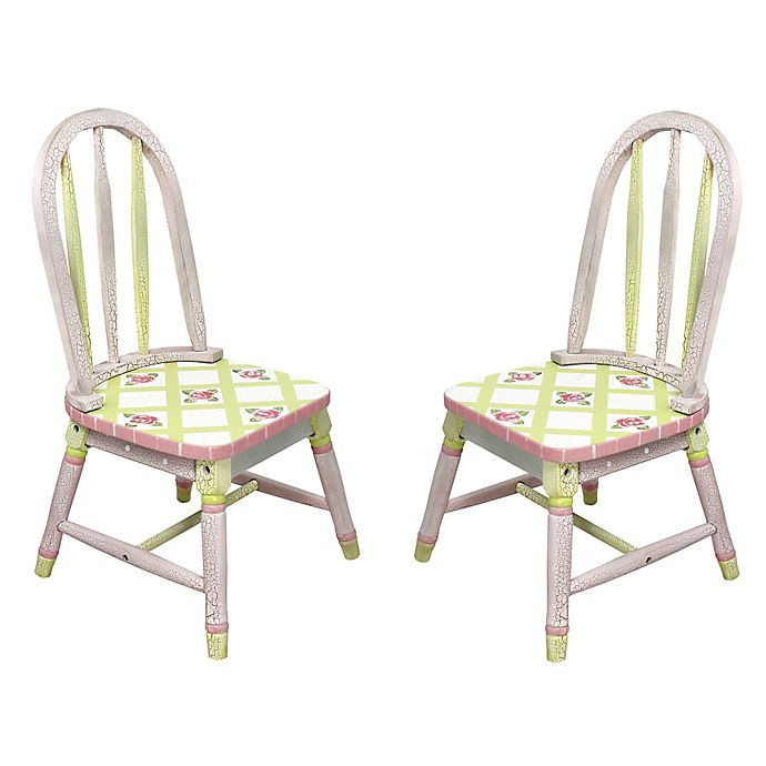 Alternate image 1 for Teamson Fantasy Fields Chairs in Crackled Rose (Set of 2)