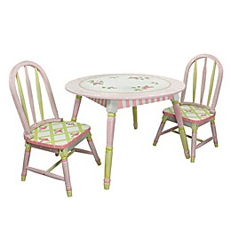 Teamson Fantasy Fields Table and 2 Chairs Set in Crackled Rose
