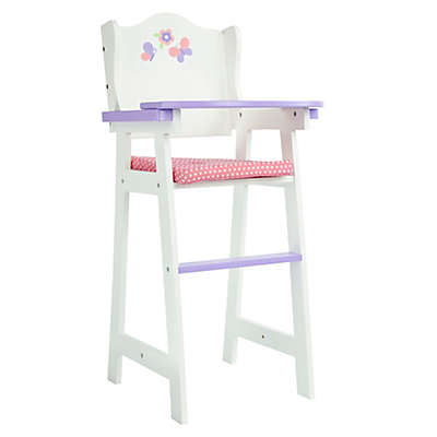 Olivia's Little World Little Princess 18-Inch Baby Doll High Chair in Pink/Multi