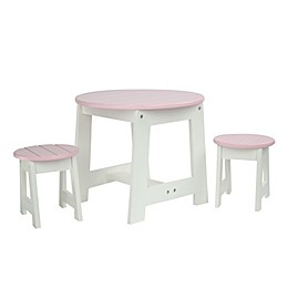 Olivia's Little World Little Princess Doll Furniture 18-Inch Doll Outdoor Table and 2 Stools Set