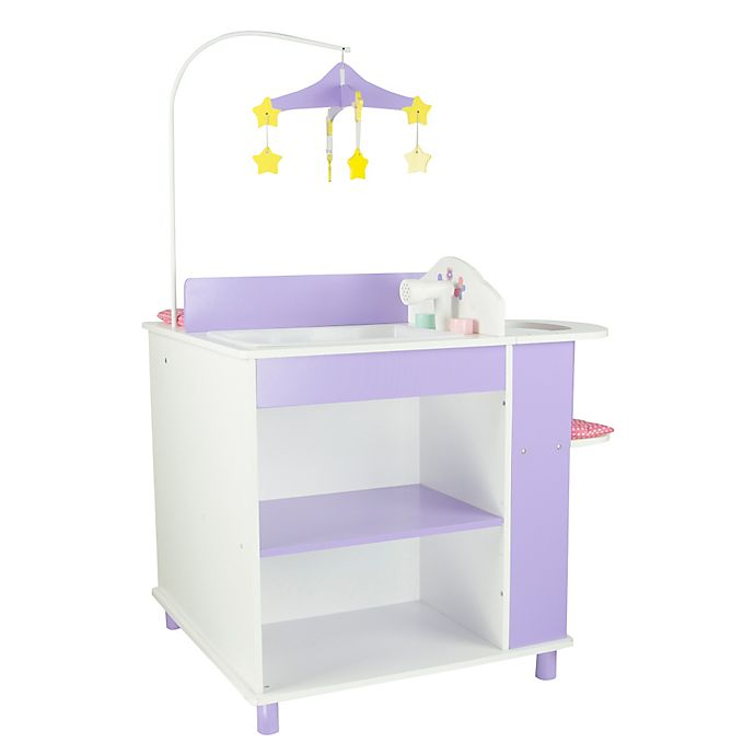 Alternate image 1 for Olivia's Little World Little Princess Baby Doll Changing Station with Storage