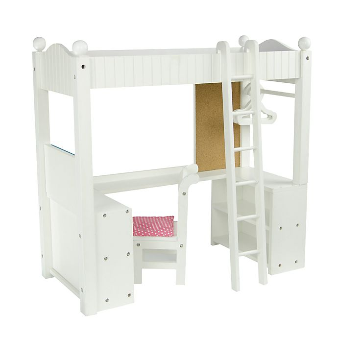 Alternate image 1 for Olivia's Little World Little Princess Doll Furniture 18-Inch Double Bunk Desk