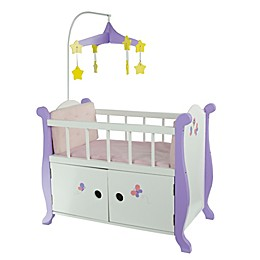 Olivia's Little World Little Princess Doll Furniture 18-Inch Baby Nursery Bed with Cabinet
