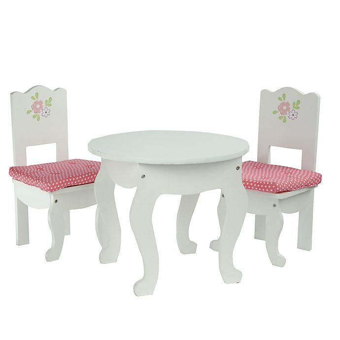 Alternate image 1 for Olivia's Little World Little Princess Doll Furniture 18-Inch Doll Table and 2 Chairs Set