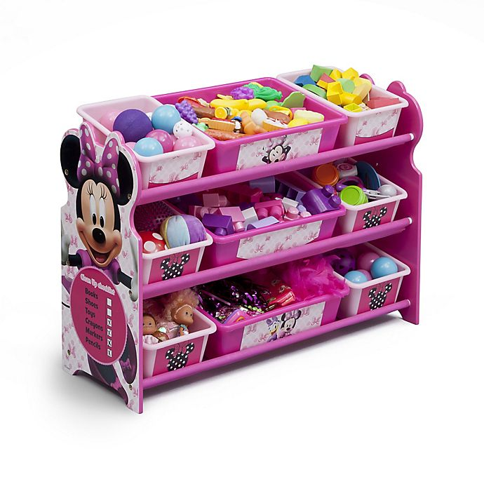 Alternate image 1 for Delta Disney® Minnie Mouse 9-Bin Organizer in Pink