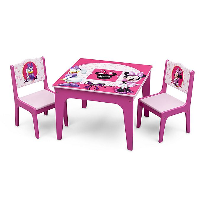 Alternate image 1 for Delta™ Disney® Minnie Mouse 3-Piece Deluxe Table and Chair Set