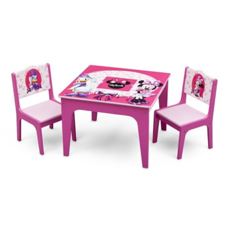 delta disney minnie mouse 3 piece deluxe table and chair set buybuy baby. Black Bedroom Furniture Sets. Home Design Ideas