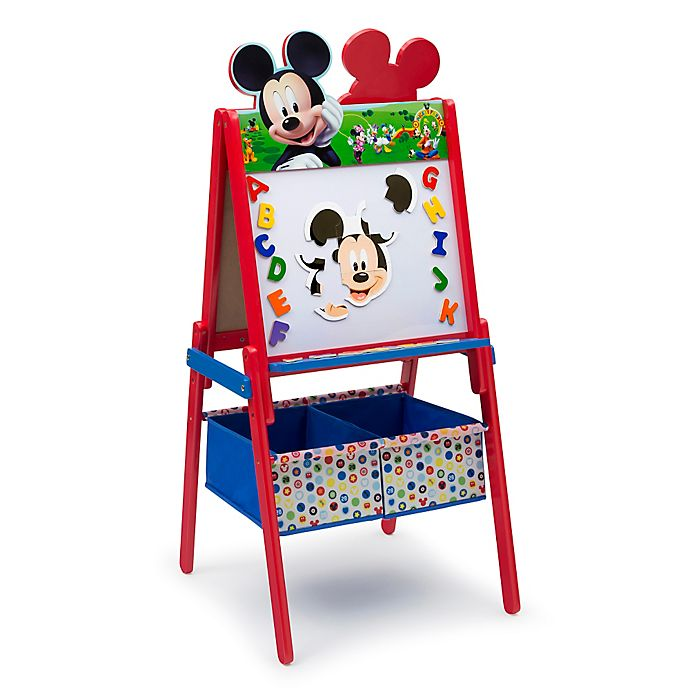 Alternate image 1 for Delta™ Disney® Mickey Mouse Wooden Activity Easel with Storage