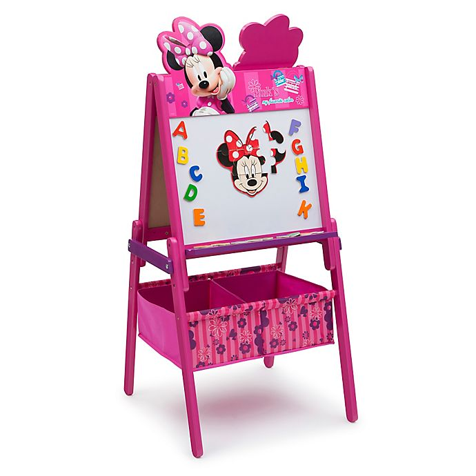 Alternate image 1 for Delta Children Disney® Minnie Mouse Wooden Activity Easel with Storage