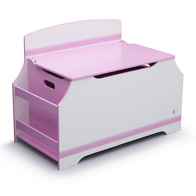 Delta Children Toy Box White: Delta™ Jack & Jill Deluxe Toy Box With Book Rack In Pink