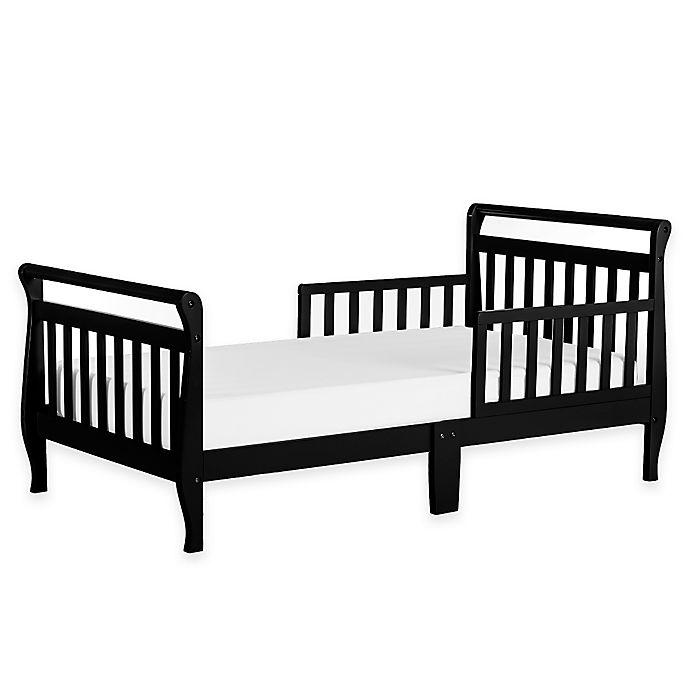 Alternate image 1 for Dream On Me Sleigh Toddler Bed in Black
