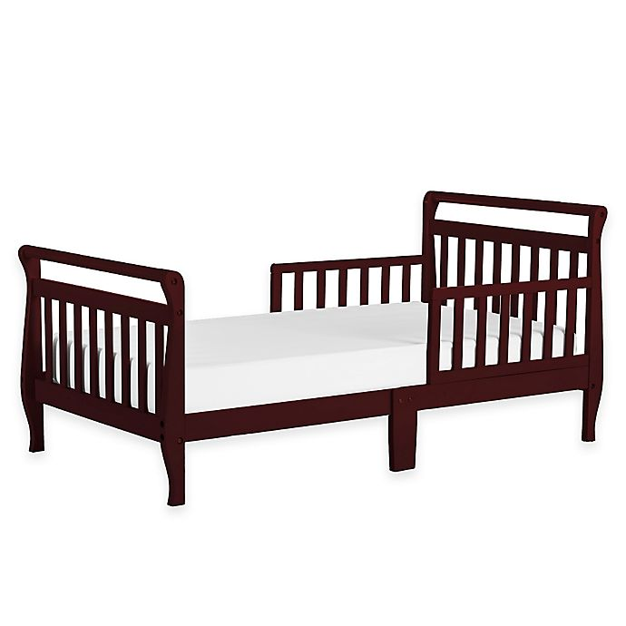 Alternate image 1 for Dream On Me Sleigh Toddler Bed in Cherry