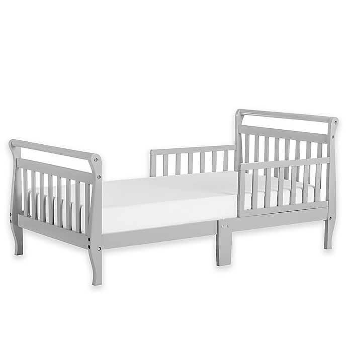 Alternate image 1 for Dream On Me Sleigh Toddler Bed in Grey