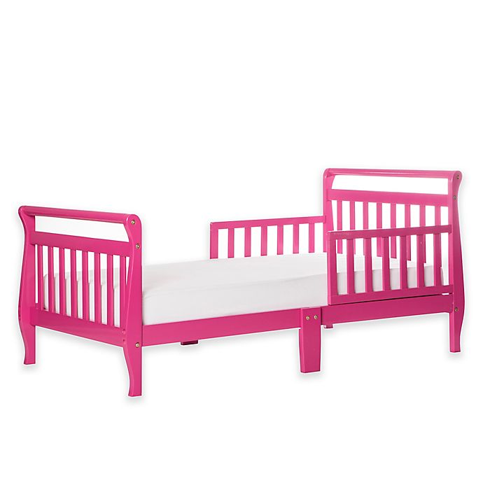Alternate image 1 for Dream On Me Sleigh Toddler Bed in Fuchsia