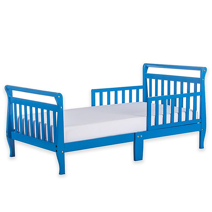 Alternate image 1 for Dream On Me Sleigh Toddler Bed in Wave Blue