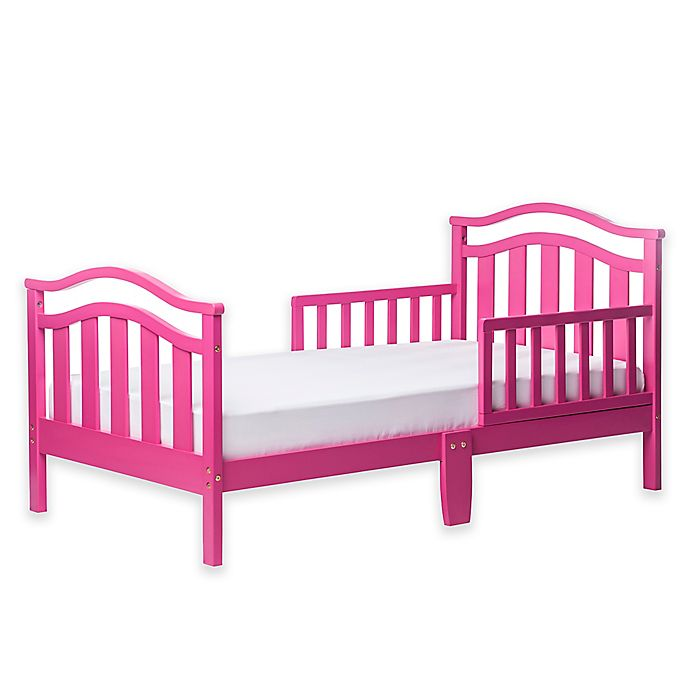 Alternate image 1 for Dream On Me Elora Toddler Bed in Fuchsia