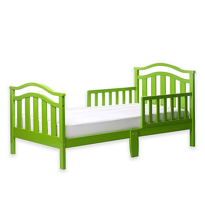 Alternate image 1 for Dream On Me Elora Toddler Bed in Lime Green