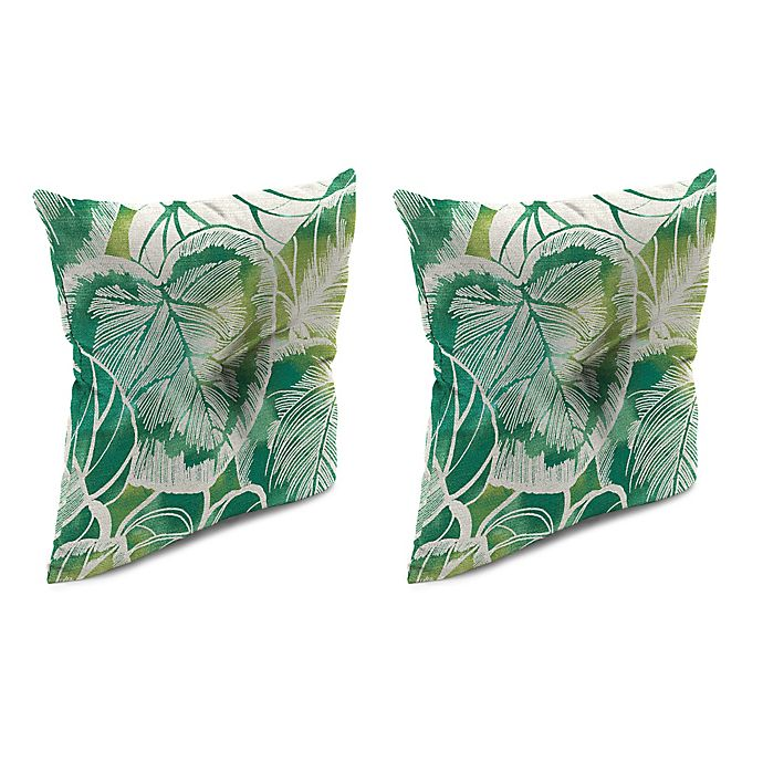 Alternate image 1 for Outdoor 16-Inch Square Throw Pillow with Center Hector in Keycove Lagoon (Set of 2)