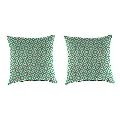 Outdoor 16-Inch Square Throw Pillow in In the Frame Oasis (Set of 2)