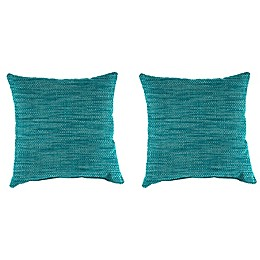 Solid Outdoor 16-Inch Throw Pillows (Set of 2)