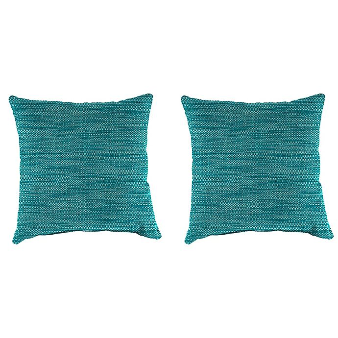 Alternate image 1 for Solid Outdoor 16-Inch Throw Pillows (Set of 2)