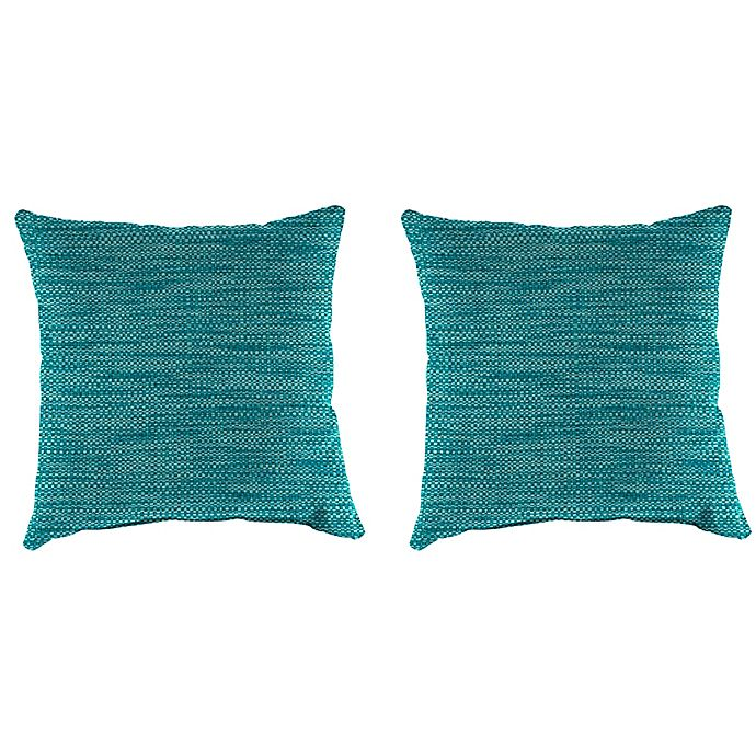 Alternate image 1 for Solid Outdoor 18-Inch Throw Pillows (Set of 2)