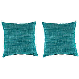 Solid Outdoor 18-Inch Throw Pillows (Set of 2)