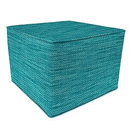 Solid 20-Inch Square Pouf/Ottoman