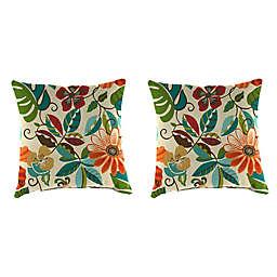 Jordan Manufacturing Print 16-Inch Square Throw Pillows in Lensing Jungle (Set of 2)
