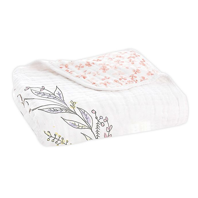 Alternate image 1 for aden + anais® Dream Receiving Blanket in Birdsong