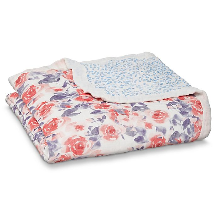 Alternate image 1 for aden + anais® Silk Soft Dream Watercolor Blanket in Pink