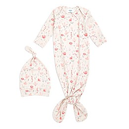 aden + anais® 2-Piece Perennial Comfort Knit Gown and Hat Set in Blush