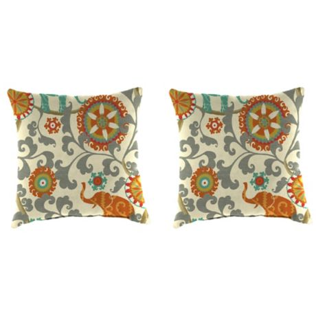 Outdoor Throw Pillows In Menagerie Cayenne Bed Bath Amp Beyond