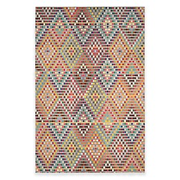 Safavieh Monaco Diamonds Area Rug in Beige Multi