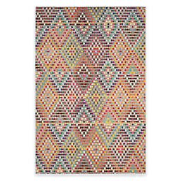 Safavieh Monaco Diamonds 6-Foot 7-Inch x 9-Foot 2-Inch Area Rug in Beige Multi